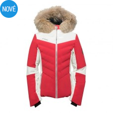 PHENIX Chloe Hybrid Down Jacket w red + PRAVÁ KOŽUŠINA